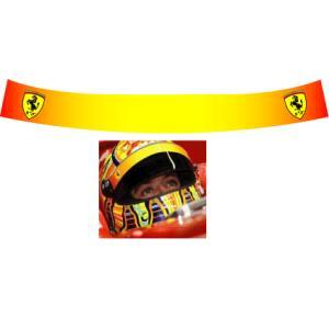 ヘルメット バイザーステッカー フェラーリ- Ferrari 09 ロッシ仕様 アライ Arai GP-5・GP-5S・SK-5・GP-6・GP-6S・SK-6ヘルメット対応 【RCP|imagine-style