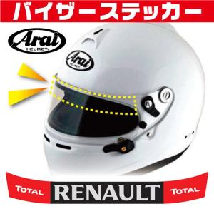 ヘルメット バイザーステッカー RENAULT ルノー 仕様 赤黒デザイン アライ Arai GP-5・GP-5S・SK-5・GP-6・GP-6S・SK-6ヘルメット対応|imagine-style