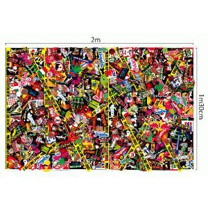 3M オリジナル ステッカー柄 ボム シート ラップフィルム シール マットツヤ消 130cm×2m 切り売り商品|imagine-style