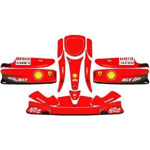 レーシングカート用 カウルステッカー UNICO用 フェラーリ 09 特注品|imagine-style