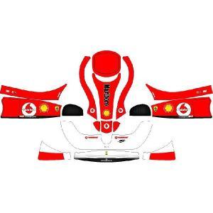 レーシングカート用 カウルステッカー フリーライン用Ferrari 特注品|imagine-style