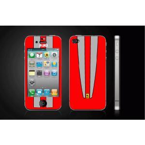 iPhone 4  4S iPhone 5 iPhone 5S  対応保護シール アイフォン用 Ferrari430-赤 デザイン|imagine-style