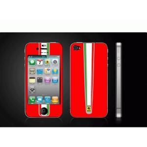iPhone 4  4S iPhone 5 iPhone 5S  対応保護シール アイフォン用 Ferrari-赤 デザイン|imagine-style