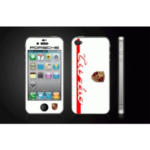 iPhone 4  4S iPhone 5 iPhone 5S  対応保護シール アイフォン用 ポルシェ-白 デザイン|imagine-style
