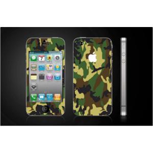iPhone 4  4S iPhone 5 iPhone 5S  対応保護シール アイフォン用 迷彩柄 アップル切り抜きデザイン|imagine-style