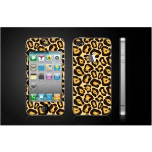 iPhone 4  4S iPhone 5 iPhone 5S  対応保護シール アップル切抜き アイフォン用 アニマル ヒョウ柄|imagine-style