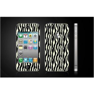 iPhone 4  4S iPhone 5 iPhone 5S  対応保護シール アップル切抜き アイフォン用 アニマル ゼブラ柄|imagine-style