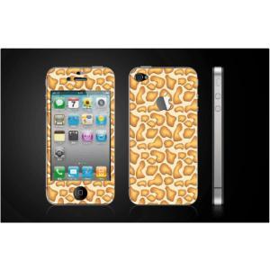 iPhone 4  4S iPhone 5 iPhone 5S  対応保護シール アップル切抜き アイフォン用 アニマル キリン柄|imagine-style