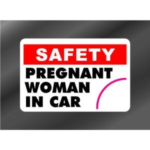 PREGNANT WOMAN IN CAR (妊婦さん IN CAR) ステッカー(デカール シール)|imagine-style