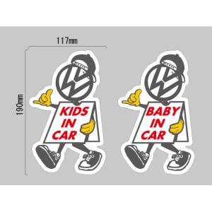 ワーゲン Volkswagen KIDS・BABY IN CAR キャラクター ステッカー|imagine-style