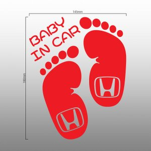 【ネコポス対応選択可能】 BABY IN CAR ホンダロゴ 足型 ベビーインカー 赤ちゃん 車 ステッカー 出産祝い プレゼント ギフト カッティング文字|imagine-style