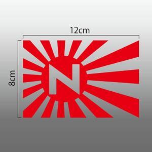 旧日の丸 日章旗 切抜きステッカー ホンダ HONDA N-ONE|imagine-style