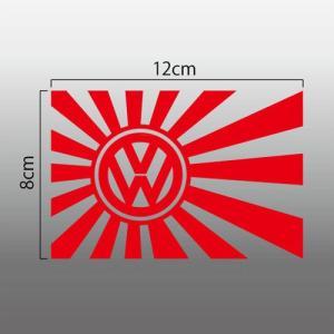 旧日の丸 日章旗 切抜きステッカー ワーゲン Volkswagen VWマーク エンブレム|imagine-style