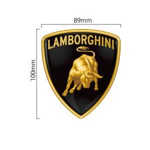 ランボルギーニ Lamborghini エンブレム カラーステッカー縦10cm×横8.9cm|imagine-style