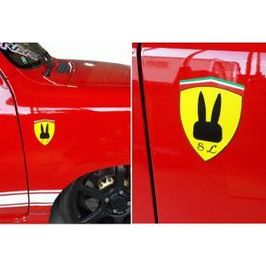 スズキ SUZUKI ラパン フェラーリ Ferrari風エンブレム ステッカー|imagine-style