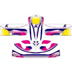 レーシングカート用 カウルステッカー M4用K仕様1 特注品|imagine-style