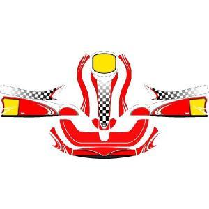 レーシングカート用 カウルステッカー フリーライン用 Or1 特注品|imagine-style