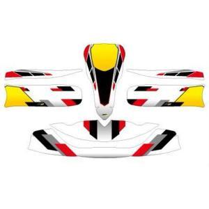 レーシングカート用 カウルステッカー M6用 A 特注品|imagine-style