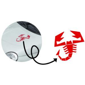 アバルト ABARTH スコーピオン 切抜きステッカー 20cm×20cm カッティング(デカール シール)|imagine-style