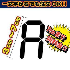 【ネコポス便対応 選択可能!】1文字から買える!アルファベット デジタル文字 カッティング文字 ステッカー(デカール シール)|imagine-style