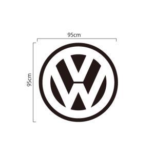 ワーゲン Volkswagen 切抜きステッカー VWマーク特大ロゴ 95cm|imagine-style