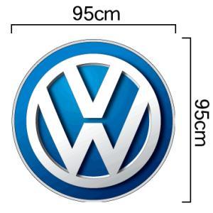 ワーゲン Volkswagen VWマーク エンブレム カラー ステッカー 95cmサイズ|imagine-style