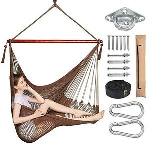 Greenstell ハンモックチェア 吊り下げ式ロープチェア 椅子型ハンモック 大人&子供兼用ハン...