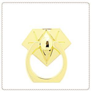 スマホリング 各種スマートフォン用 シンプルデザイン ダイヤモンド SAR0017-GD ゴールド スマートフォンリング 落下防止 おしゃれ ホールドリング