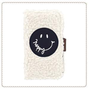 32dc05d156 各種スマートフォン用 マルチ ケース 手帳型 ブックレットケース Smiley マルチタイプ フェイスロゴ SCM0023-IV アイボリー おしゃれ  かわいい 人気 Galaxy