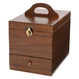 【安い】木製コスメティックボックス 収納ケース 日本製 メイクボックス 017-513 ブラウン(514744)|imajin
