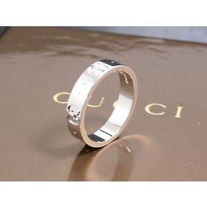 【送料無料】グッチ GUCCI リング/指輪 K18 ホワイトゴールド 073230 19号(26573)|imajin