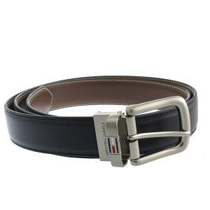 【安い】トミー ヒルフィガー TOMMY HILFIGER 08-4311 メンズ ベルト 08X011BK-B ブラック(556123)|imajin