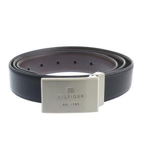 【安い】トミー ヒルフィガー TOMMY HILFIGER 08-4842 メンズ ベルト 08X016BK-B ブラック(556119)|imajin