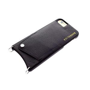 【安い】BANDOLIER バンドリヤー スマホケース iPhone6/6S/7/8対応 CASE  レディース 10EMM1001-BLKSIL エマ EMMA シルバー ブラック(565018)|imajin