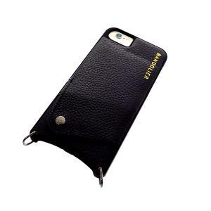 【安い】BANDOLIER バンドリヤー スマホケース iPhone6/6S/7/8対応 CASE  レディース 10LCY1001-BLKPEW ルーシー LUCY ピューター ブラック(565022)|imajin