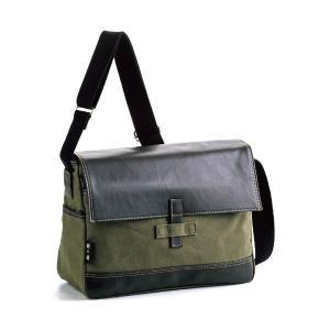 【安い】鞄の國 帆布シリーズ メンズ ショルダーバッグ 33637 カーキ 国内正規(513226)|imajin