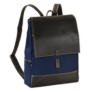 【安い】鞄の国 帆布シリーズ 日本製 豊岡製鞄 リュックサック ユニセックス 42526-3H ネイビー(554725)|imajin