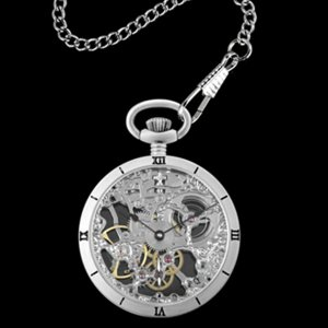 【送料無料】アルカフトゥーラ ARCA FUTURA 手巻き メンズ 腕時計 スケルトン 懐中時計 5074ATSSK シルバー(549687) imajin