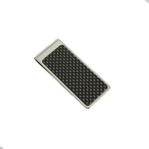 【安い】マネークリップ カーボン SV メンズ 4902558603756 シルバー(551729)|imajin