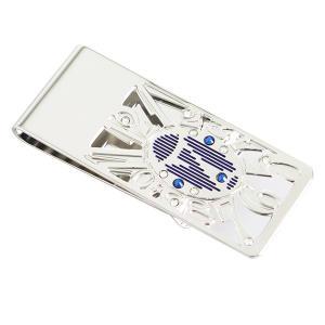 【安い】マネークリップ ダイヤル7 BL メンズ 50831078 シルバー×ブルー(551709)|imajin