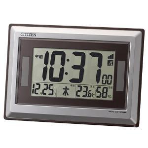 【安い】リズム RHYTHM シチズン 電波掛け置き時計 ソーラー アシスト 8RZ182-019 シルバー(531374) imajin
