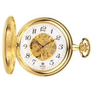 【送料無料】ロイヤル ロンドン ROYAL LONDON 手巻き 懐中時計 ポケットウォッチ 90004-01 ゴールド(532058) imajin