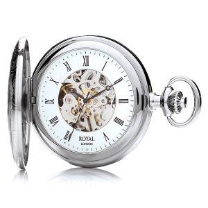 【安い】ロイヤル ロンドン ROYAL LONDON 手巻き 懐中時計 ポケットウォッチ 90009-02 シルバー(532060) imajin