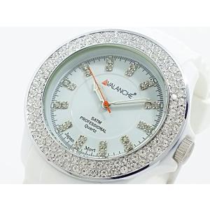 【安い】アバランチ AVALANCHE クオーツ 腕時計 AV-107S-WH-44 ホワイト(260774)|imajin