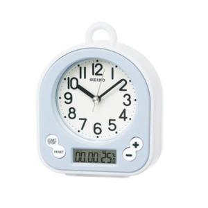 【安い】セイコー SEIKO クロック 生活防水 置き時計 BZ358L ライトブルー(510918) imajin