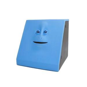 【安い】フェイスバンク FACE BANK 貯金箱 ブルー(293970)|imajin
