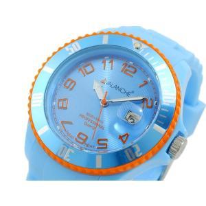 アバランチ AVALANCHE クオーツ 腕時計 AV-1019S-BO-44 ブルー オレンジ|imajin