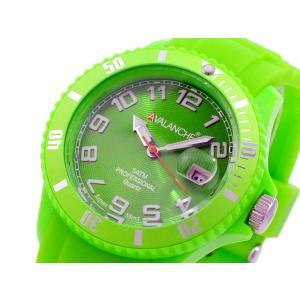 アバランチ AVALANCHE クオーツ 腕時計 AV-100S-GR-40 グリーン グリーン|imajin