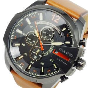 ディーゼル DIESEL メガチーフ メンズ クオーツ クロノ 腕時計 DZ4343 ブラック ブラック|imajin