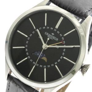 グランドール GRANDEUR プラス PLUS クオーツ メンズ 腕時計 GRP011W2 ブラッ...